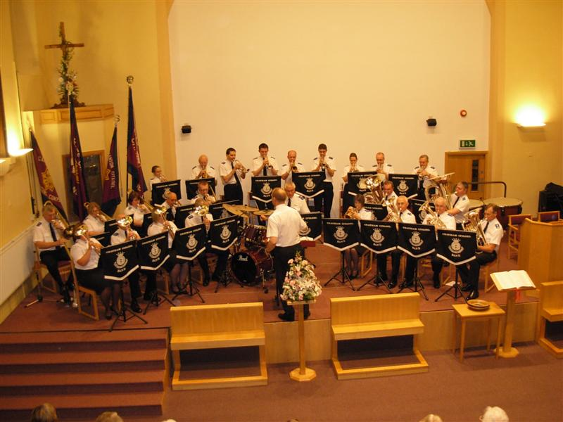Sunday 4 march our band will be visiting the salvation army corps